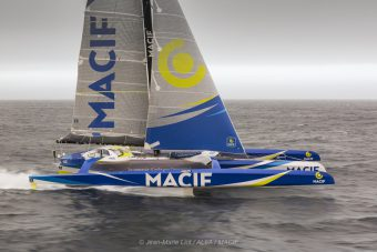 BI MACIF AERIAL - 161017 Aerial images of Francois Gabart onboard Ultim MACIF, training before the Round the Word Solo Handed Record, off Belle Ile, on October 16th, 2017 - Photo jean-Marie LIOT / ALEA / MACIF